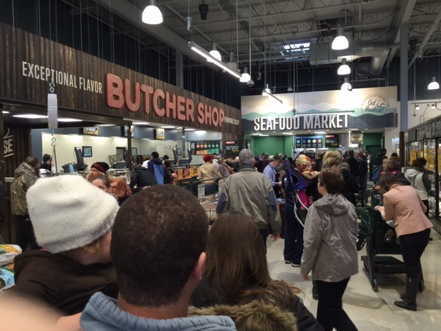 Butcher shop and seafood market
