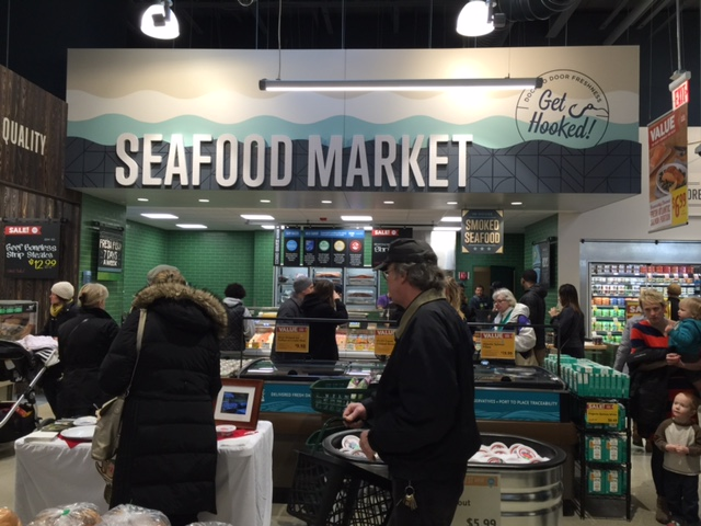Seafood Market with daily smoked fish