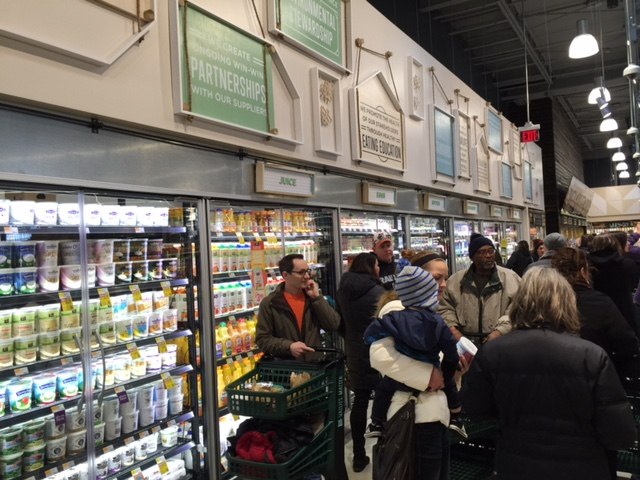 Dairy and refrigerated section