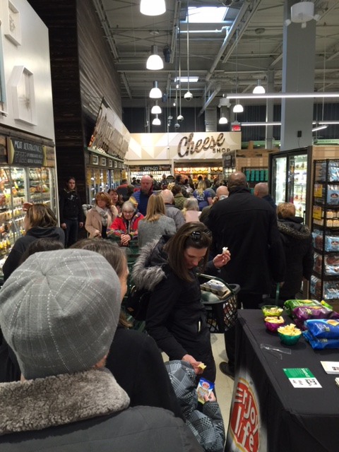 View of the customers navigating the new store