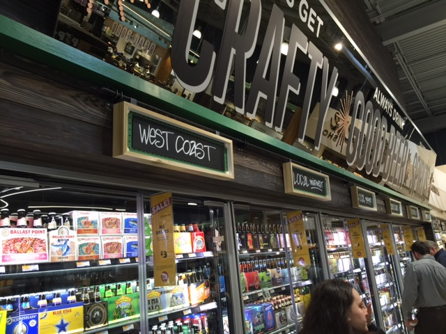 Beer section featuring more than 400 bottles and cans
